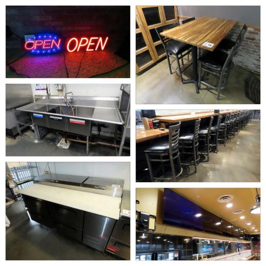 Online Only Restaurant/Bar Business Liquidation