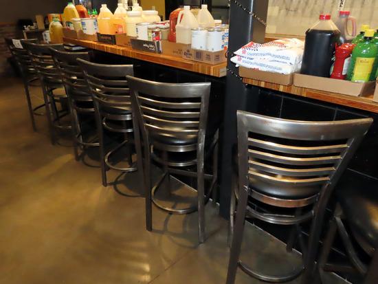 (6) Non-Swivel Top Padded Bar Stools (6x$).