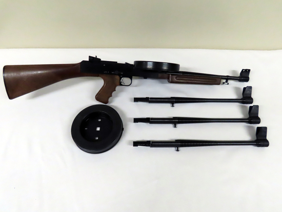 """American Arms 180 M-2 Fully Automatic Rifle, SN# B01036, .22LR Caliber, 16.5"""" Barrel, (3) Extra"""