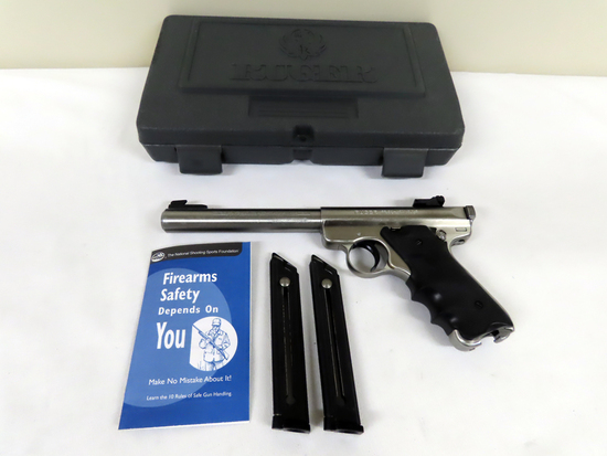 """Ruger Mark II Target Semi-Auto Pistol, Government Target Model, SN# 224-36477, .22LR, 7"""" Stainless S"""