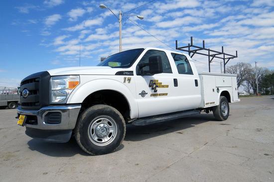 2011 Ford Model F-250 XL Crew Cab Diesel 4x4 Contractor's Pickup, VIN# 1FT7W2BT4BEB19157, 6.7 Lite