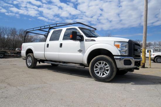 2014 Ford Model F-350 Crew Cab Diesel 4x4 Pickup, VIN# 1FT8W3BT7FEA96022, 6.7 Liter Turbo Power Stro