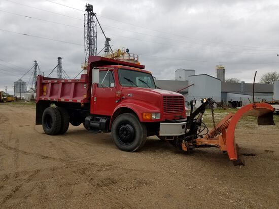 2000 International Model 4700 Single Axle Conventional Dump Truck, 4x2, VIN# 1HTSCAAP9YH280910, DT46