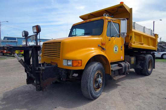 1990 International 4700 Single Axle Dump Truck, VIN 1HTSCCFR9LH207647, International 360 Turbo Diese