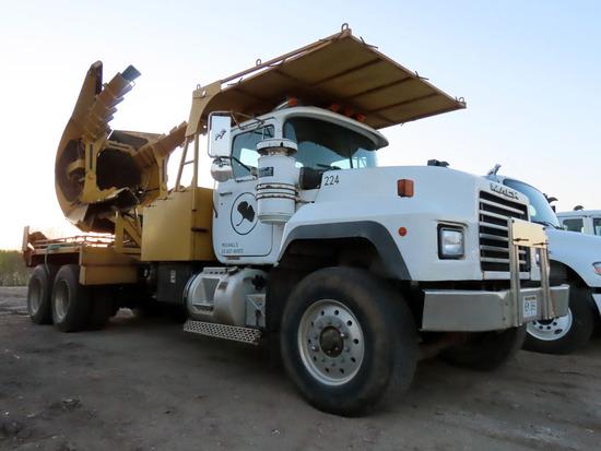 1997 Mack Model RD688S Tandem Axle Tree Spade Truck, VIN# 1M2P267C6VM033401, Mack ES-350 Turbo Diese