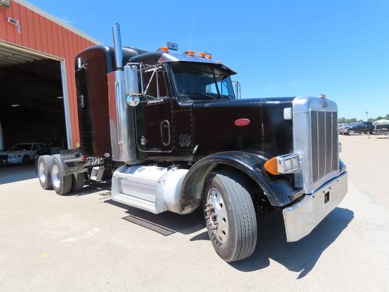 2000 Peterbilt Model 378 Conventional Tandem Truck Tractor, VIN# 1XPFDU9X71D540279, Cat C-12 Twin