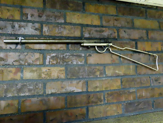 Quackenbush Herkmer .22 Caliber Takedown Rifle, Made in Belgium, Patent in February of 1886.