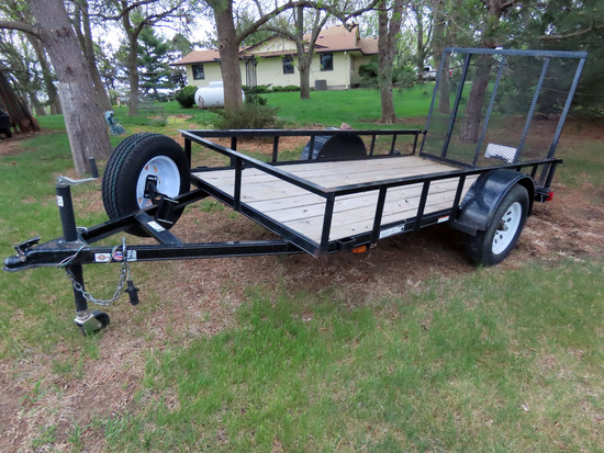 2014 Carry-On 5' x 10' Single Axle Utility Trailer, VIN 4YMUL1016ET022272, 2,990lb. GVW, Wood Deck