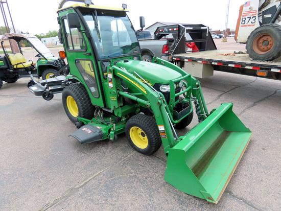 John Deere Model 2320 HST MFWD Compact Utility Tractor, SN# LV2320H403120, Yanmar Diesel Engine, Foo