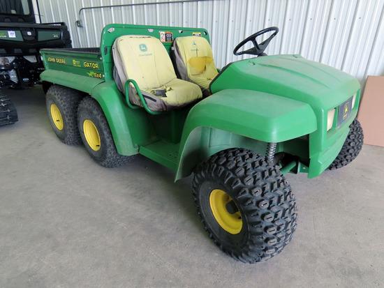 2002 John Deere 6x4 Gator, SN# W006X4X038541, 2,214 Hours, 25x12-8 Turf Tires, Hydraulic Dump Box.