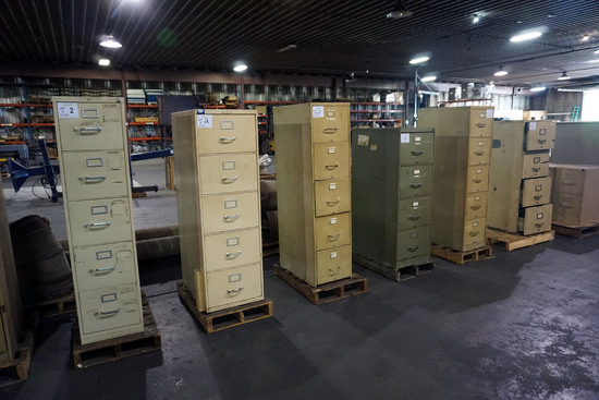 (6) Metal File Cabinets.