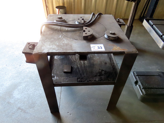 Shop Made Hydraulic Bender Table.