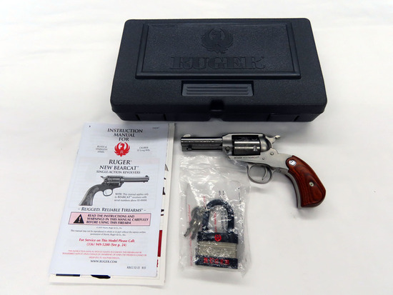 Ruger Model New Bearcat Single Action Satin Stainless Steel Revolver, SN #95-10417, .22 Caliber, Eng