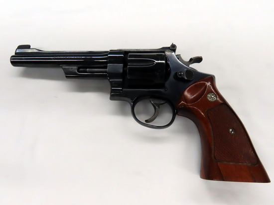 "Smith & Wesson Model 27-2 Double Action Revolver, SN #341977, .357 Magnum, 6"" Barrel, Original Wood"