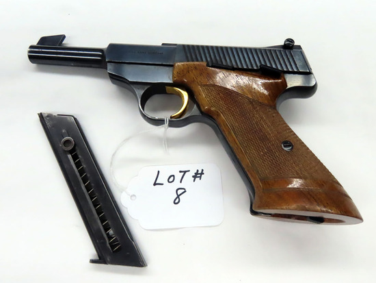 "Browning (Belgium) Semi-Auto Pistol, SN #88440U7, .22 Long Rifle Caliber, (1) Magazine, 4 1/2"" Barre"