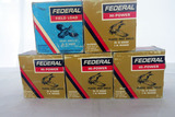 (5) Boxes of Federal 12 Gauge Shotgun Shells (125 Rounds).