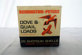 (1) Box of Remington-Peters 12 Gauge Shotgun Shells (25 Rounds).