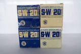 (4) Boxes of Smith & Wesson 20 Gauge Shotgun Shells, 50 High Velocity Shells, 50 Field Shot Shells.