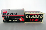 (2) Boxes of CCI Blazer .22 Rounds, 1000 Blaxzer High Velocity .22 LR Rounds.