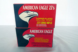 (2) Boxes of American Eagle .22 Rounds, 800 Copper-Plated High Velocity .22 LR Rounds.