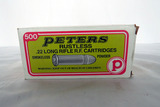 (1) Box of Peters .22 Long Rifle Rounds, 500 Rounds.