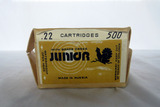 (1) Box of Junior .22 Rounds, 500 Rounds, Made in Russia.