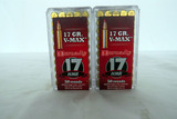 (2) Cases of Hornady .17 HMR Rounds, 100 Rounds.