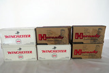 (7) Boxes of 22-250 Remington Rounds, (1) Partial & (2) Full Winchester 22-250 40 Round Boxes; (4) H
