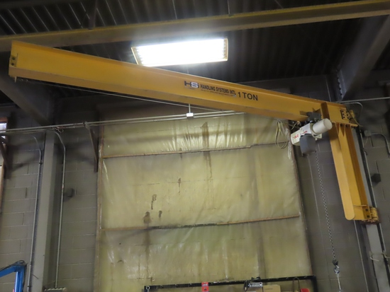 Handling Systems International 1-Ton Overhead Crane Hoist with Coffing JLC 1-Ton Electric Overhead C