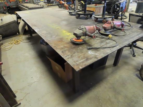 5' x 12' Steel Welding Bench.