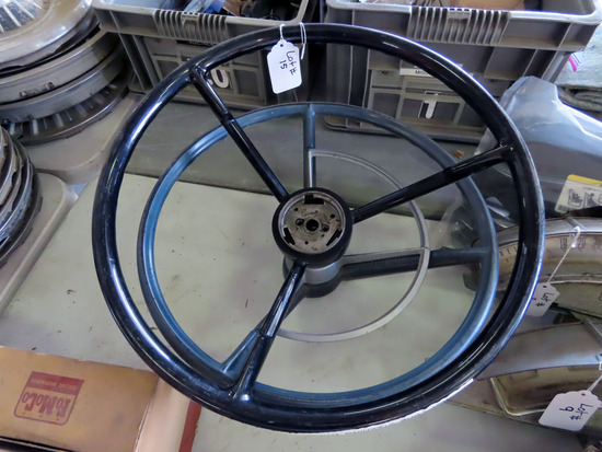 (2) 1957 Ford Steering Wheels-Black & Blue.