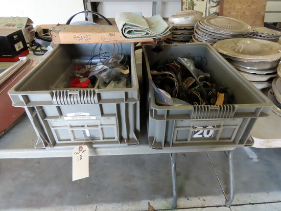 (2) Crates with Electrical Trailer Hookups.