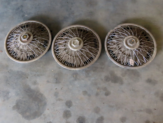 (3) Wire Hub Caps.