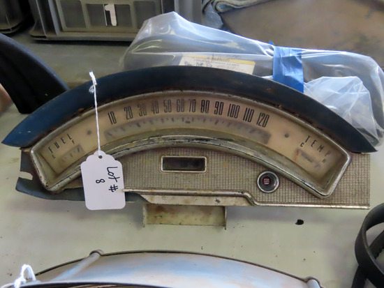 Speedometer for 1957 Ford Skyliner (59,104 Miles Showing).