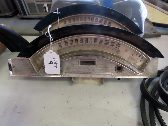 Speedometer for 1957 Ford Skyliner (20,334 Miles Showing).