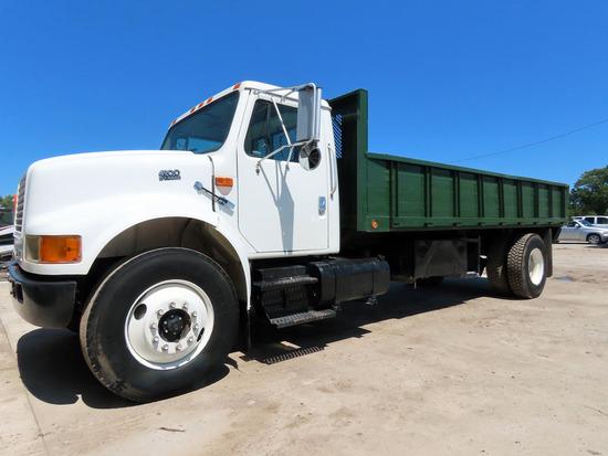 2000 International Model 4900 4x2 Conventional Single Axle Dump Truck, VIN# 1HTSDAAN0YH289796, DT466