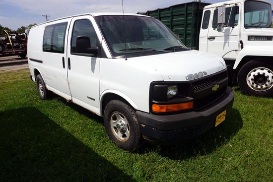 2003 Chevrolet Model 2500 Cargo Van, VIN# 1GCFG25X031152754, 4.3L V-8 Gas Engine, Automatic Transmis