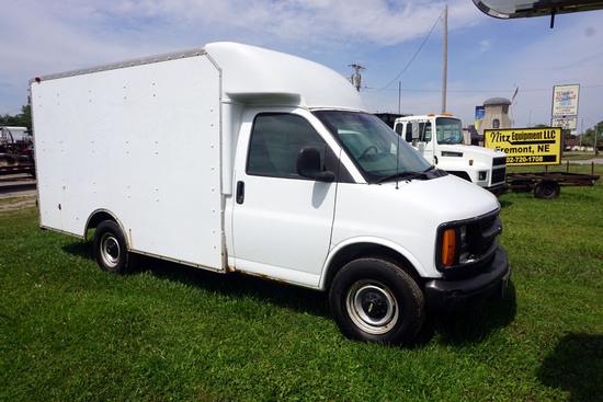 2001 Chevrolet Model G-30 Cutaway Van, VIN# 1GBHG31R211145828, Vortec 5.7 Liter V-8 Gas Engine, Auto
