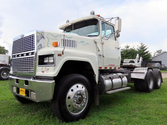 1986 Ford Model LTL9000 Tandem Axle Conventional Day Cab Truck Tractor, VIN# 1FDYA90W5GVA12808, Cumm