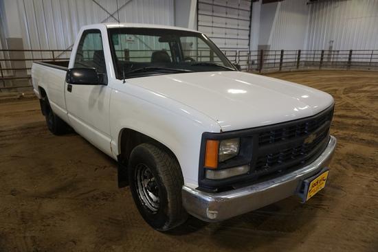 1996 Chevrolet 1500 Pickup, VIN# 1GCEC14W7TZ103663, AM/FM/Cassette, Air Conditioning & Heat, 218,251