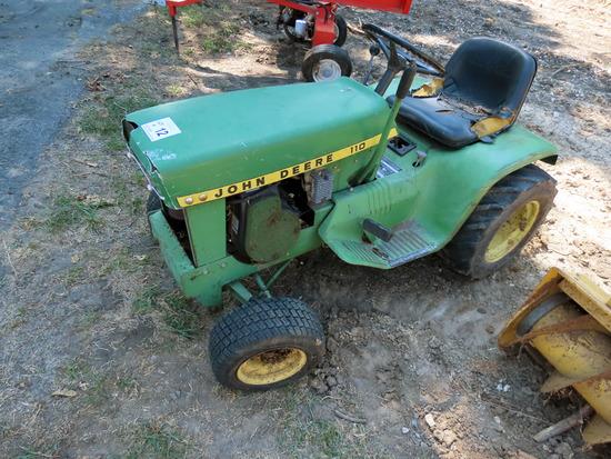 John Deere 110 Lawn & Garden Mower (No Deck).