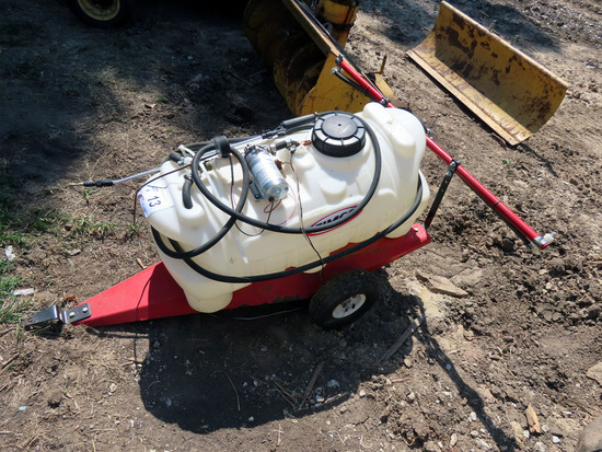 Fimco Pull-Type Sprayer with 25 Gallon Poly Spray Tank, 12-Volt Pump, Rear
