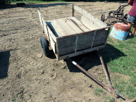 4' x 6' Single Axle Trailer with Wood Sides.
