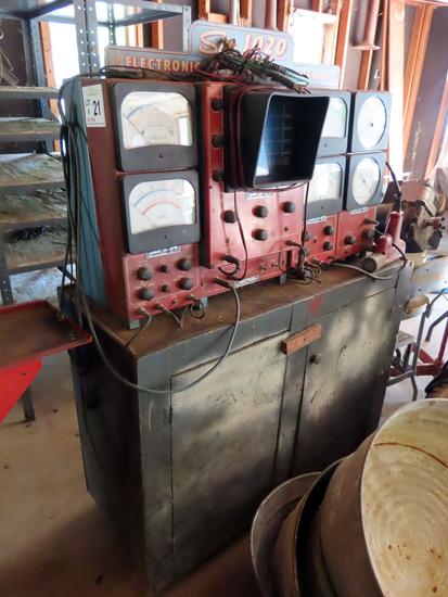 Antique Sun 1020 Electronic Diagnosis Engine Tester with Original Timing Li