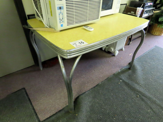 Vintage Chromecraft Table with Yellow Top.