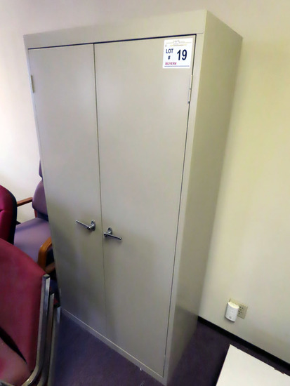 Steel 2-Door Locking Storage Cabinet.