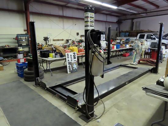 2008 Atlas Model Pro 8000 Hydraulic Drive-On 4 Post Car Lift, S#CEPCF02015, 8,000 lb. Lift Capacity,