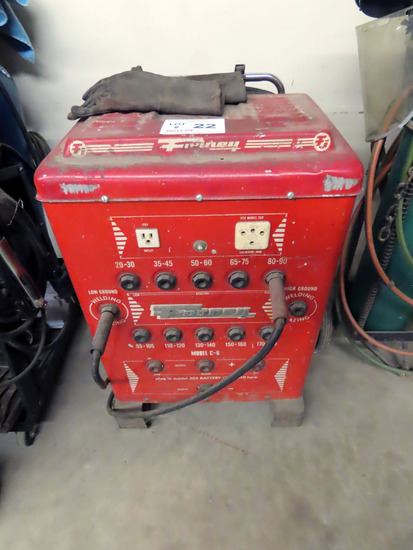 Forney ModelC-6 180 Amp Electric Arc Welder w/Leads & Battery Charger