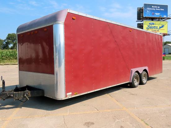 "2004 United Expressline 8'6"" x 24' Tandem Axle Aluminum Enclosed Car Hauler Trailer, VIN# 48B5"