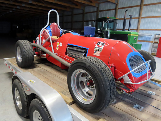 1953 Vintage Dirt Track Race Car, 331 Hemi V-8 Gas Engine (Runs Terrific)